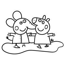 Peppa Pig Elephant coloring images