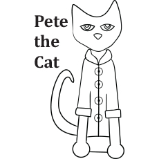 Pete the Cat Colouring
