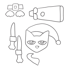 Pete The Cat Crafts to Color
