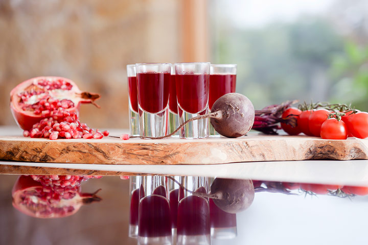 Pomegranate and Beetroot juice