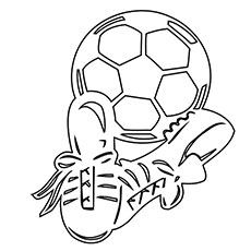 photograph relating to Soccer Ball Printable called Football Ball Coloring Web pages - Absolutely free Printables - MomJunction