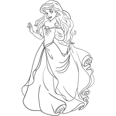 Coloring Pages of Princess Ariel