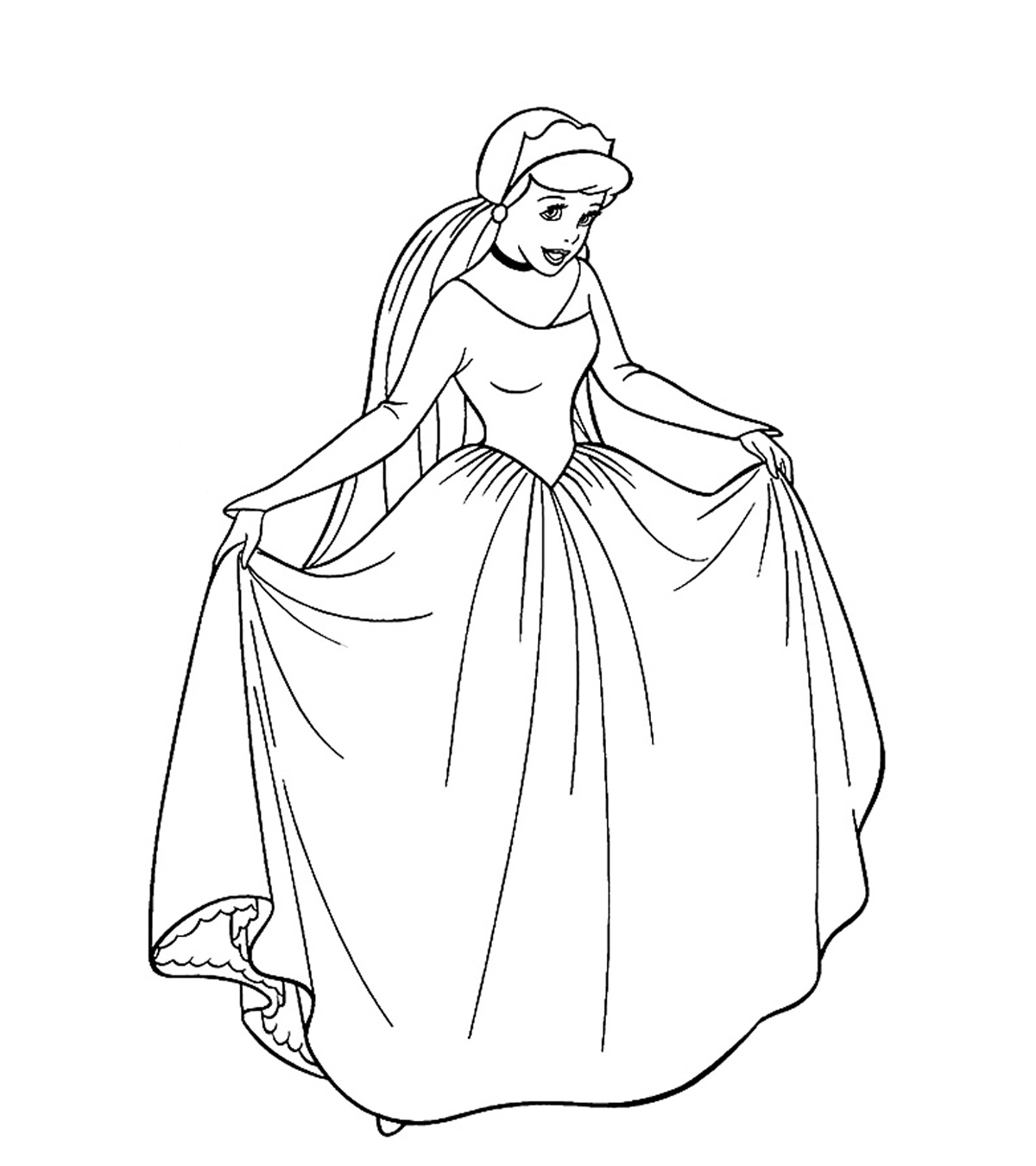 Top 10 Free Printable Princess Coloring Pages Online