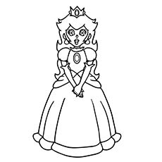 princess peach looking - Baby Princess Peach Coloring Pages