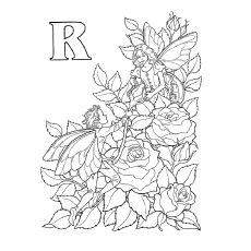 Coloring Sheet of R For Roses
