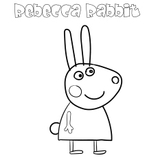 Rebecca Rabbit coloring print images