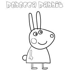 Peppa Rebecca Rabbit coloring print images