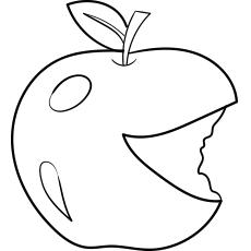 Red Delicious Bitten Apple