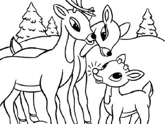 20 Best Rudolph 'The Red Nosed Reindeer' Coloring Pages for Your Little Ones