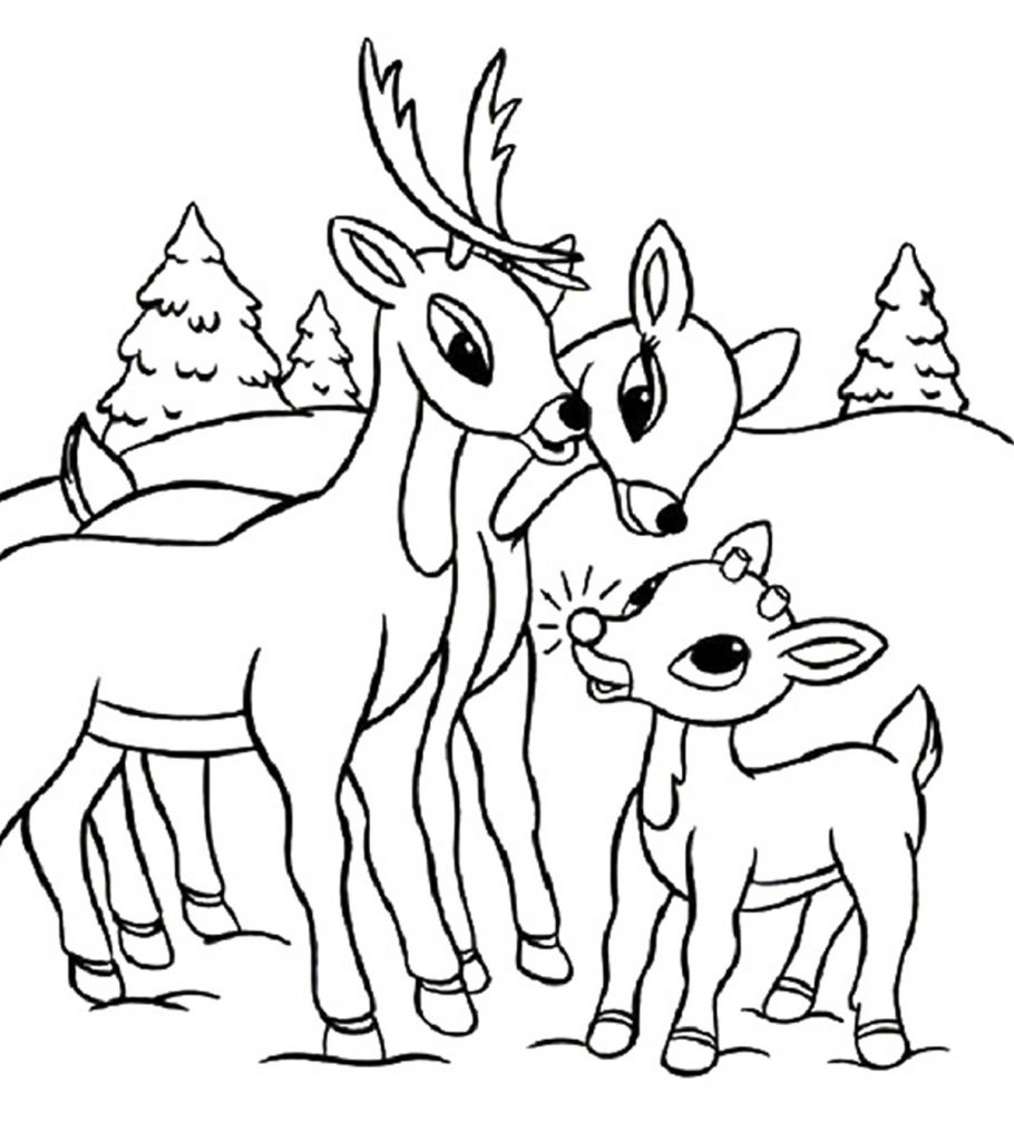 20 Best Rudolph 'The Red Nosed Reindeer' Coloring Pages ...