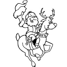 Santa-And-Reindeer-Coloring-Pages