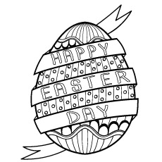 Simple And Elegant Easter Egg Coloring Sheets