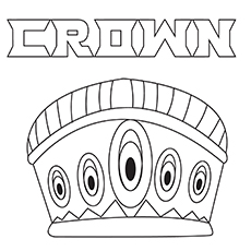 Coloring pages Simple-Crown-16