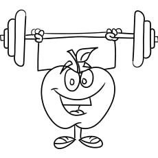 Smiling Apple Cartoon