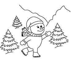 Snowman Coloring Pages Online