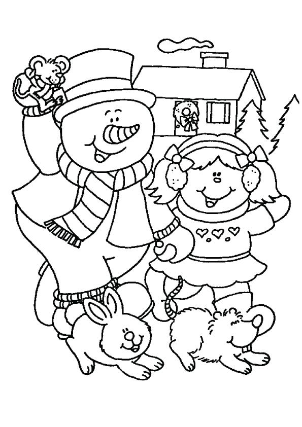 Snowman-Coloring-pages