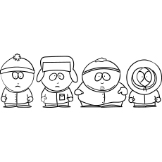 South Park Cartoon Coloring Page to Print