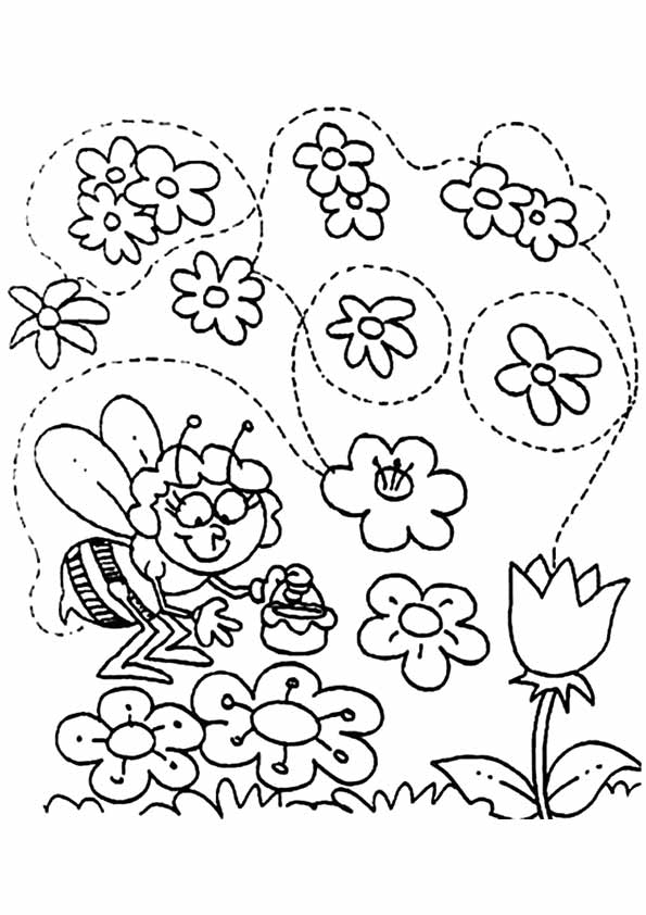 Spring-coloring-book