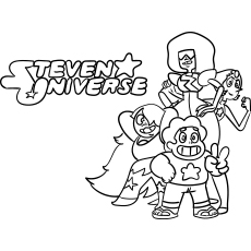 Cartoon Series Steven Universe Coloring Page