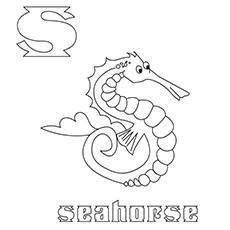 The-'S'-For-Seahorse-16 best coloring pages