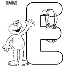Coloring Pages of Letter 'e' for elmo