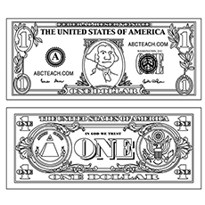 Money Coloring Pages - Free Printables - MomJunction
