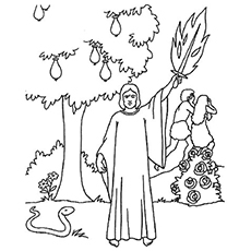Top 25 FreePrintable Adam And Eve Coloring Pages Online | 230x230