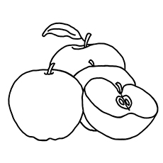 apples coloring page - Apples Coloring Pages