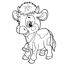 baby calf coloring pages - Cow Coloring Page