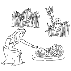 The Baby Moses 16 Coloring Pages