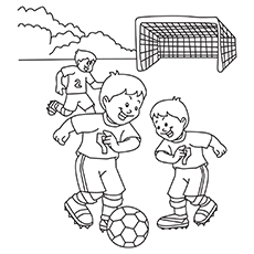 The-Boys-Playing-Soccor-16 coloring pages
