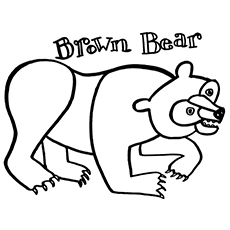 the brown bear - Eric Carle Coloring Pages