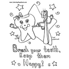 Brush Your Teeth Daily Coloring Pages