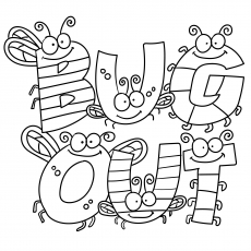 The Bugs Spelling Out