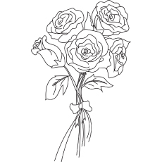 the bunch of roses coloring pages - Coloring Pages Roses
