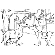 the deer hunter - Hunting Coloring Pages