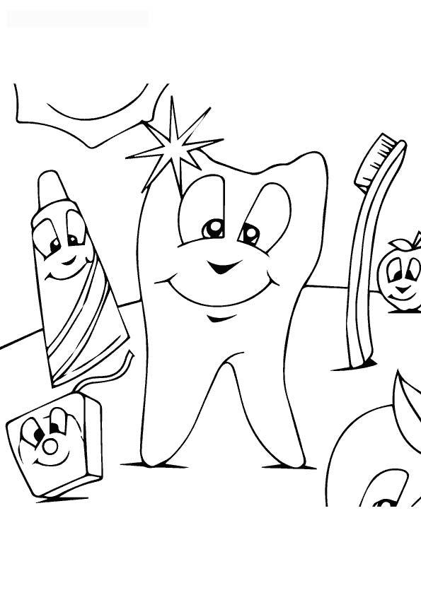 The-Dental-Hygiene-color-page