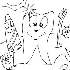 Tooth Coloring Pages Printable Endearing Top 10 Free Printabe Dental Coloring Pages Online