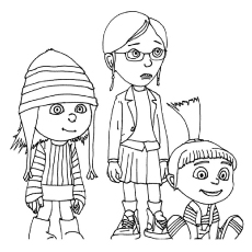 Superbe The Despicable Me Coloring Pages