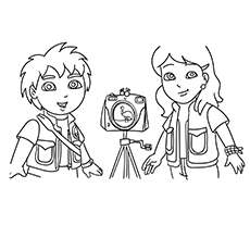 Dora And Diego Coloring Pages Free - Coloring Home | 230x230