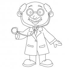 The Doctor With Stethoscope