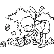 the easter egg hunting - Hunting Coloring Pages