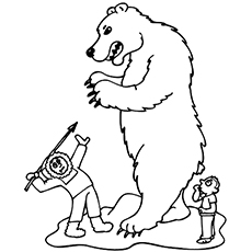 the eskimo hunting a polar bear - Hunting Coloring Pages