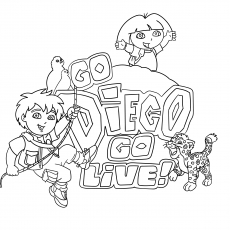 The Go Diego Go Logo