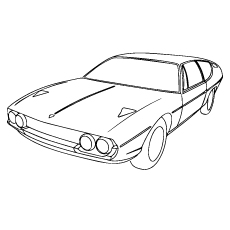 the lamborghini espada car color to print - Lamborghini Coloring Pages