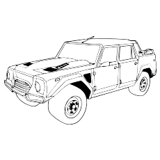 The Lamborghini LM002 Car Color To Print