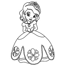 the littl princess tiana - Princess Print Out Coloring Pages