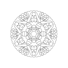 mandala easter egg coloring page