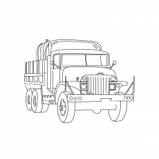 The Military Truck Coloring Page
