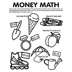 The Money Math money coloring pages for kindergarten printable coloring pages on kindergarten money worksheets